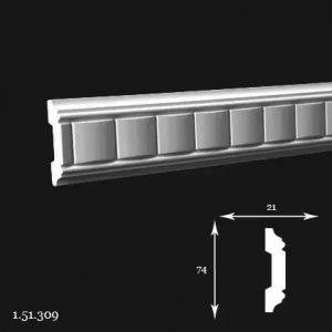 Brau Poliuretan 74x21x2000 mm 1.51.309 Gaudi