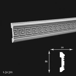 Brau Poliuretan 86x20x2000 mm 1.51.311 Gaudi