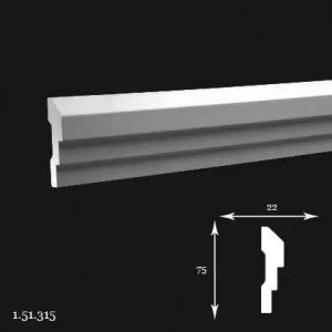 Brau Poliuretan 75x22x2000 mm 1.51.315 Gaudi