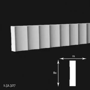 Brau Poliuretan 80x21x2000 mm 1.51.327 Gaudi