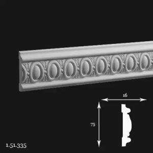 Brau Poliuretan 75x16x2000 mm 1.51.335 Gaudi