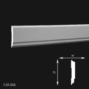 Brau Poliuretan 75x12x2000 mm 1.51.343 Gaudi