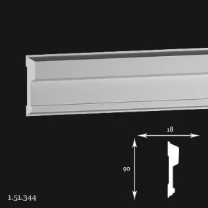 Brau Poliuretan 90x18x2000 mm 1.51.344 Gaudi