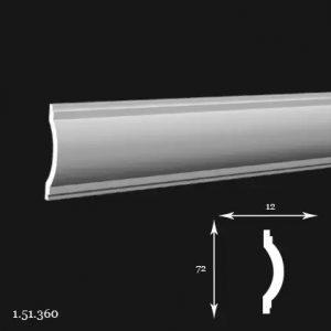 Brau Poliuretan 72x12x2000 mm 1.51.360 Gaudi
