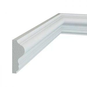 Brau perete alb decorativ din poliuretan B3 1.6 x 4 x 200 cm Manavi