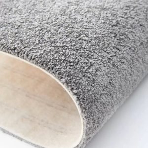 Mocheta pufoasa gri metalic pentru dormitor Lily WFB 96 Balta
