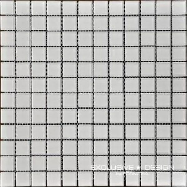 Mozaic sticla alb amenajare baie si bucatarie Midas A-MGL04-XX-013