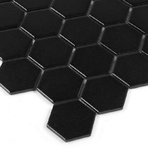 Mozaic ceramic Hexagon Black 51 matt