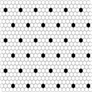 Mozaic ceramic Mini HEXAGON B&W Spot
