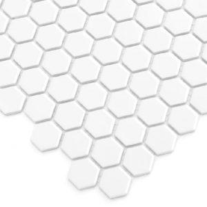 Mozaic ceramic Mini HEXAGON White