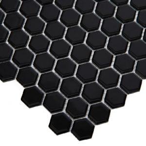 Mozaic ceramic Mini HEXAGON Black