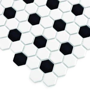 Mozaic ceramic Mini HEXAGON B&W Mix