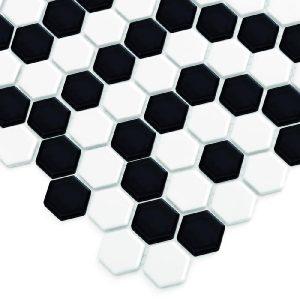 Mozaic ceramic Mini HEXAGON B&W Nano