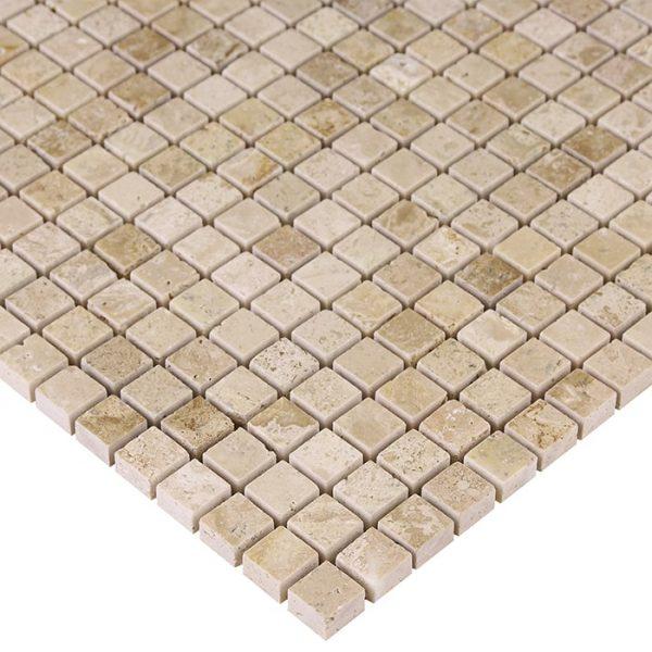 Mozaic piatra naturala Travertine Cream 15 30,5x30,5 cm