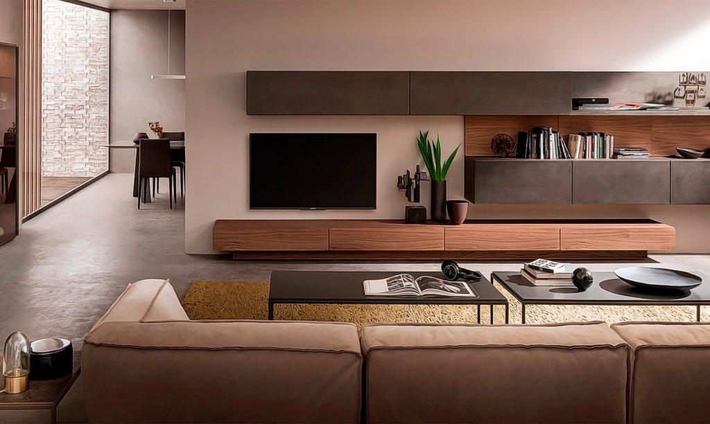 Living minimalist in culoarea bej