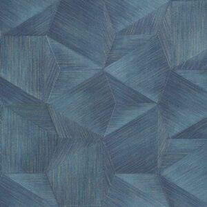 Tapet albastru de lux geometric din vinil greu italian Zambaiti Trussardi 5 Z21850