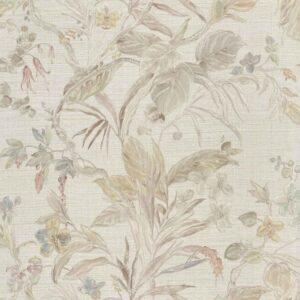 Tapet de lux floral alb din vinil greu italian Zambaiti Trussardi 5 Z21833