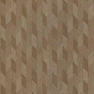 Tapet de lux geometric maro din vinil greu italian Zambaiti Trussardi 5 Z21815
