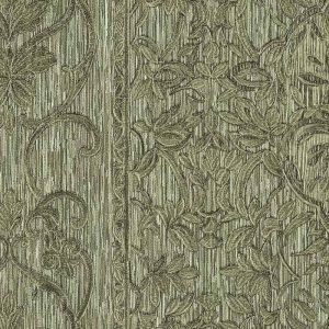 Tapet de lux verde floral din vinil greu italian Zambaiti Trussardi 5 Z21829