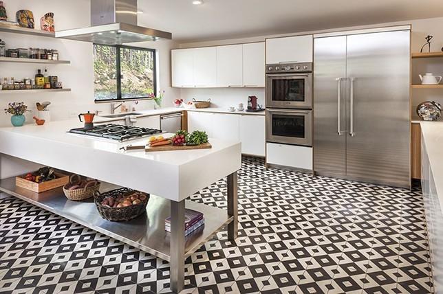 bright laminate Kitchen Flooring ideas 2019