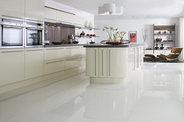 white laminate Kitchen Flooring ideas 2019